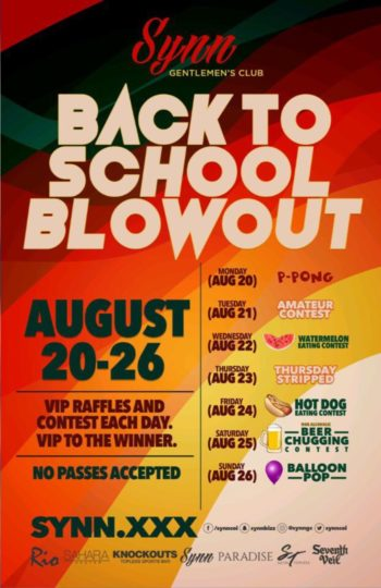 Back to School Blowout